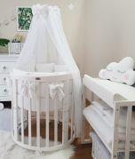Bettset mit Kissennestchen Weiss für Babybett Beistellbett STANDARD 100 by OEKO-TEX ComfortBaby