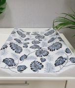 Fasciatoio - foglie grigio / bianco