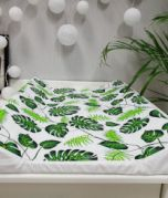 Fasciatoio - foglie verde / bianco